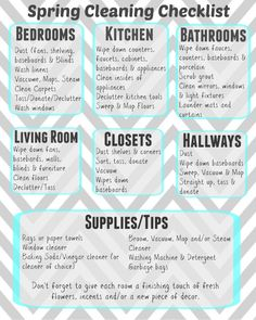 Ultimate Guide to Spring Cleaning + Printable Checklist - Living Chic Mom