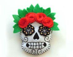 #Felt #skull #diadelosmuertos