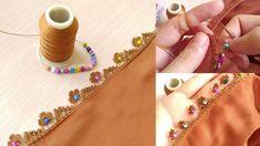Handcraft, Knitting, Embroidery: My Heart You Make Beaded Crochet Needlework Model Bead Crochet, Crochet Lace, Piercings, Most Beautiful Models, Moda Emo, Learn To Crochet, Beaded Lace, How To Make Beads, Stone Beads