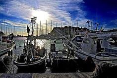 Sanary sur Mer - Contre jour sur le port - ( Var - 83 - France )