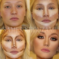 Contour Makeup - Contouring and highlighting is the perfect way to make your fav. Contour Makeup - Contouring and highlighting is the perfect way to make your favorite features stand out – and it's easier than you think. Beauty Make-up, Beauty Hacks, Hair Beauty, Beauty Secrets, Beauty Tips, Beauty Products, Makeup Products, Fashion Beauty, Face Products