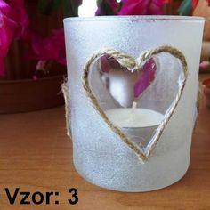 Svietnik sklenený mix vzorov - Sviečka - S čajovou sviečkou (plus 0,10€), Vzor - Vzor 3