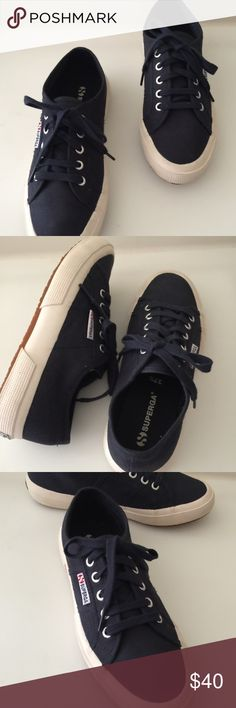 ‼️Closet Clearance‼️ Superga Women's Cotu Superga Cotu Classic Navy Fashion Sneakers, NWOT. These are in excellent condition. Size:7.5 US or 37.5 EU  ONLY Reasonable Offers Please. Superga Shoes Sneakers