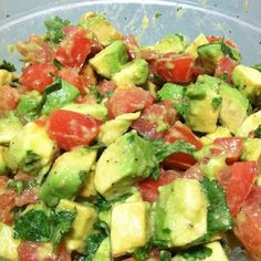 Feeling like you need an extra pick-me-up? Grab some avocados and tomato and really treat your body to a great snack!
