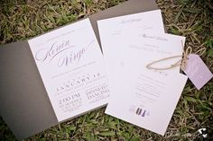 Elegant Gray Wedding Invitation   http://brideandbreakfast.ph/2014/07/29/lush-loveliness/   Photographer: BlackTieProject