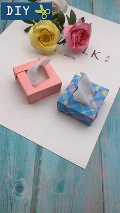 Nvhklpugg boxes gift packaging ideas How To Make Mini Paper Tissue Box,Paper Craft Idea! Diy Crafts Hacks, Diy Crafts For Gifts, Diy Home Crafts, Diy Arts And Crafts, How To Make Crafts, How To Make Origami, How To Make Box, Paper Crafts Origami, Paper Crafts For Kids