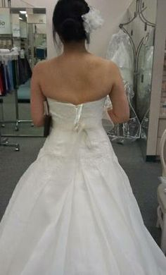Vera Wang White VW351023 6 find it for sale on PreOwnedWeddingDresses.com
