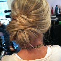 Wedding messy bun..minus the little braid