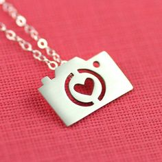Photography camera necklace! For photographers, photography lovers, camera collectors, and sterling silver lovers alike! $55