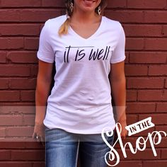 It Is Well! tee by Scarlet and Gold in store now