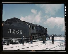 Delano, Jack,, photographer.  Santa Fe RR freight train about to leave for the West Coast from Corwith yard, Chicago, Ill., Santa Fe R.R. trip  1943 March   1 transparency : color.  Notes:  Title from FSA or OWI agency caption. Transfer from U.S. Office of War Information, 1944.  Subjects:  Atchison, Topeka and Santa Fe Railroad  World War, 1939-1945 Railroad shops & yards Railroad freight cars United States--Illinois--Chicago   Format:  Transparencies--Color  Rights Info:  No known…