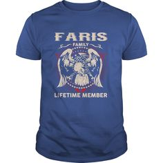 [Love Tshirt name printing] FARIS Family Lifetime Member Free Ship Hoodies, Funny Tee Shirts