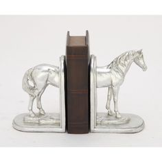 Robust Ps Silver Horse Bookend Pair