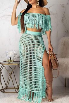 Winter Christmas Fashion 2020 New Style Women's Clothing Clothes Casual Party Two Piece Sets Casual Outfits, Cute Outfits, Fashion Outfits, Womens Fashion, Fashion 2020, Fashion Models, Mode Crochet, Moda Instagram, Diy Kleidung