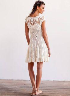 Crochet dress PATTERN designer wedding dress crochet pattern