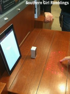Brookstone Virtual Keyboard - Just one of the new tech gadgets from @Brookstone!