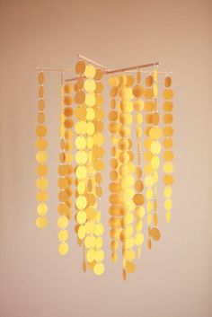 The Sunshine Chandelier  Baby Mobile by LilSproutCreations on Etsy, $75.00