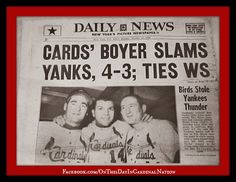 On This Day In Cardinal Nation : October 11, 1964: Ken Boyer Slams ...