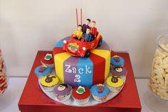 Wiggles Cake Second Birthday Cakes, 1st Birthday Boy Themes, 1st Boy Birthday, Birthday Ideas, Birthday Parties, Wiggles Birthday, Wiggles Party, Wiggles Cake, The Wiggles