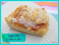 Apple Pie Coffee Cake 1 cups sugar 1 cup sticks) butter, softened t baking powder 1 t vanilla extract 3 eggs 3 cups flour 1 21 oz. can apple pie filling t cinnamon, divided 4 T oats Glaze: cup powdered sugar 1 T milk Apple Bread, Apple Pie, Fruit Recipes, Apple Recipes, Yummy Recipes, Cake Recipes, Recipies, Dessert Recipes, Apple Coffee Cakes