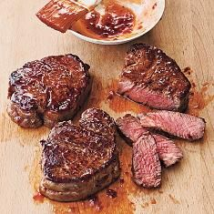 Broiled Tenderloin Steaks With Ginger-hoisin Glaze (via www.foodily.com/r/6WKEgYsVOZ)