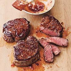 Broiled Tenderloin Steaks With Ginger-hoisin Glaze (via www.foodily.com/r/6WKEgYsVOZ)