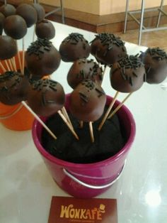 Cakepops de chocolate