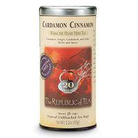 Cardamom Cinnamon Herbal Tea from the Republic of Tea (chai without tea)--so yummy!
