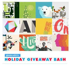 grain edit holiday bash  #typography #illustration  #kidsbooks #design #graphicdesign