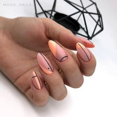 2019 is Also Very Fashionable Nail Polish Designs and Shapes 2019 is Also Very Fashionable Nail Polish Designs and ShapesBy Posted on July nails are very nice but ver Minimalist Nails, Swag Nails, My Nails, Geometric Nail, Fire Nails, Best Acrylic Nails, Dream Nails, Nail Polish Designs, Nails Design