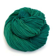 Hand Dyed Superwash Merino Wool Yarn - Emerald. $20.00, via Etsy.