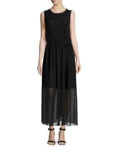 Neiman Marcus Sleeveless Lace Maxi Dress, Black, Women's, Size: SMALL - http://musteredlady.com/neiman-marcus-sleeveless-lace-maxi-dress-black-womens-size-small-2/ .. http://goo.gl/ewaWKI | MusteredLady.com
