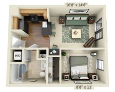 Edgewater Floor Plan Details and Pricing   UDR Apartments