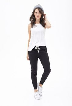 We've gathered our favorite ideas for Drawstring Pocket Sweatpants Explore our list of popular images of Drawstring Pocket Sweatpants Sport Outfits, Fall Outfits, Summer Outfits, Casual Outfits, Cute Outfits, Fashion Outfits, Womens Fashion, Jogger Pants Outfit, Cute Sweatpants Outfit