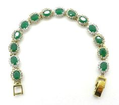 Vintage Emerald Topaz Tennis Bracelet Two by LeesVintageJewels
