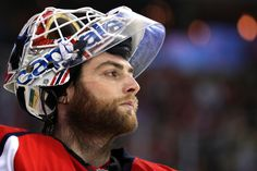 WASHINGTON, DC - NOVEMBER 16: Goalie Braden Holtby #70 of the Washington Capitals looks on against the Pittsburgh Penguins during the first period at Verizon Center on November 16, 2016 in Washington, DC. (Photo by Patrick Smith/Getty Images)