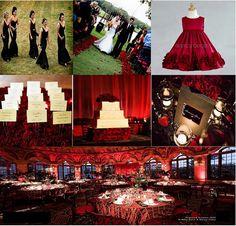 Blood Red & Black Elegant Wedding Inspiration by ajbevents, via Flickr