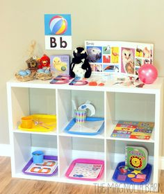 Letter Learning Series | Letter of the Week Letter B - Adorable Set up for Letter B & how to rotate weekly activity trays.