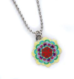 Multi Colored Flower Medical ID Pendant from Lauren's Hope