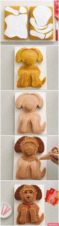 Znalezione obrazy dla zapytania tort śmietanowy z pieskiem
