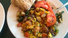 Cilantro Lime Tofu Hash from Bluegrass Grill in Chattanooga