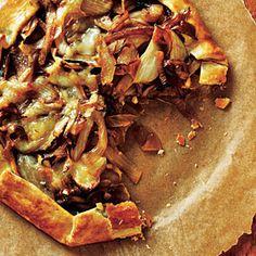 onion, feta and thyme tart