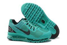Mens Air Max 2013 Atomic Green Black Shoes Shoes