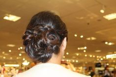 Special occasion Bridesmaids updo done by me | low bun | classy updo braided | hair by Michelle M.