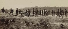 Photograph of the outer line of Confederate fortifications, in front of Petersburg, Va., captured by 18th Army Corps on June 15, 1864.