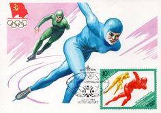 Speed-Skating. Artist I. Filippov. Printed in the USSR, Moscow, 1984