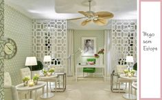 This interior is actually a nail salon however it had so many gorgeous elements…