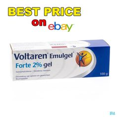 VOLTAREN Emulgel Forte 2.32% Gel Back Pain Extra Strength Relieve Cream 100gr #VoltarenEmulgelForte232