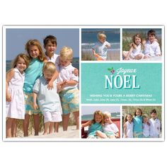 Decorative Noel Photo Holiday Cards   PaperStyle