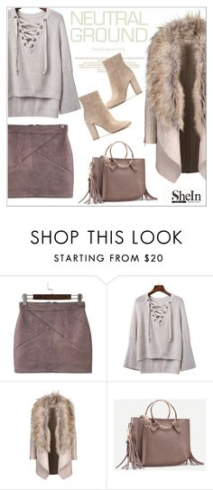 """""""Cool Neutrals"""" by aurora-australis ❤ liked on Polyvore featuring WithChic, Gianvito Rossi and Sheinside"""